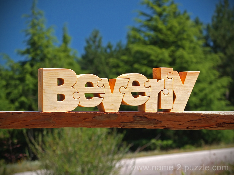 Personalized wooden name puzzle Beverly